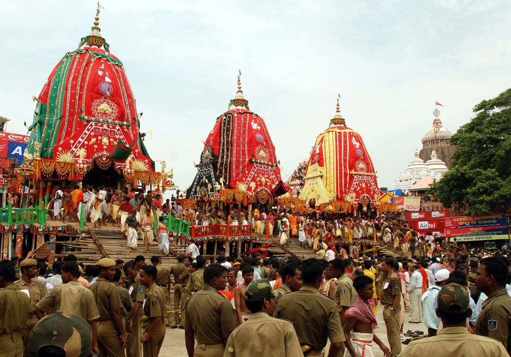 The famous Rath Yatra at Puri