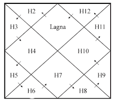 Square Birth Chart of Vedic Astrology