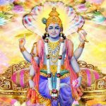 A glorious image of Lord Vishnu worshipped in vaisakhia month