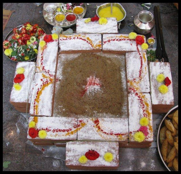 Homakunda for fire ritual - Pooja for Jothish remedies