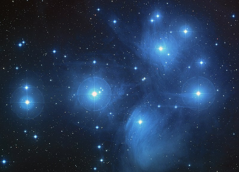 Picture of the  Pleiades