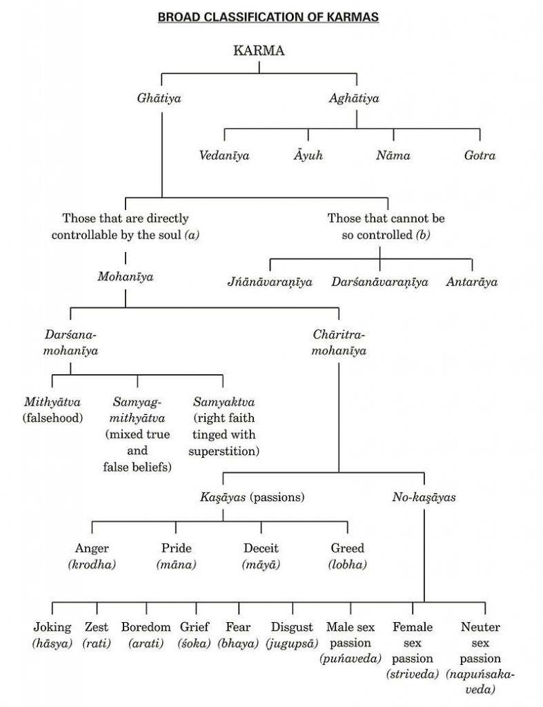 Types of Karma in Jainism - Astrology in Jainism