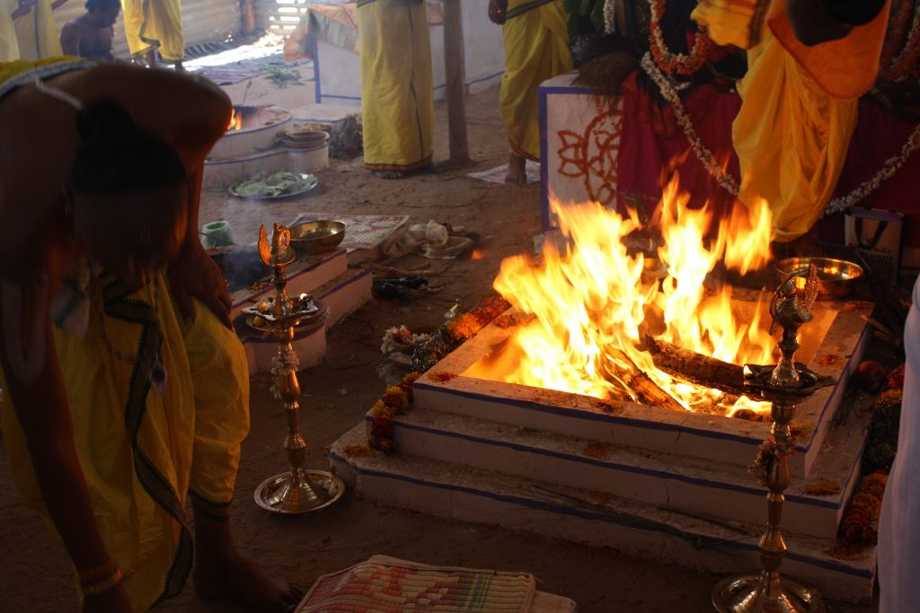 Pooja for Jothish - Homa Fire