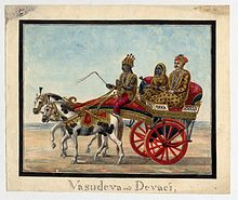Vasudeva And Devaki In A Chariot