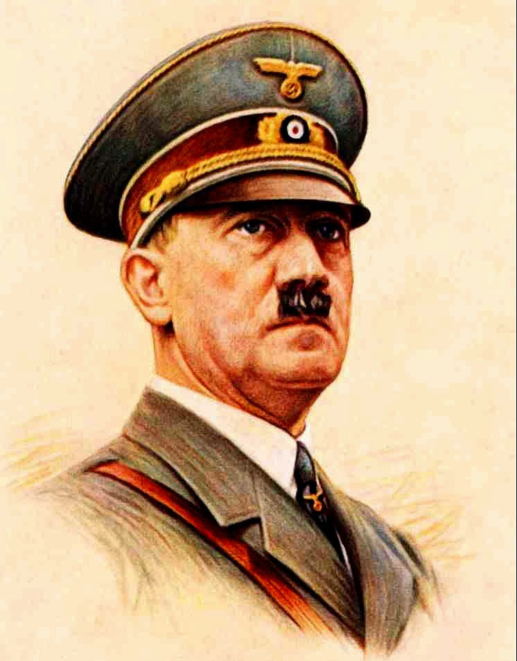 An image of the all powerful Adolf Hitler