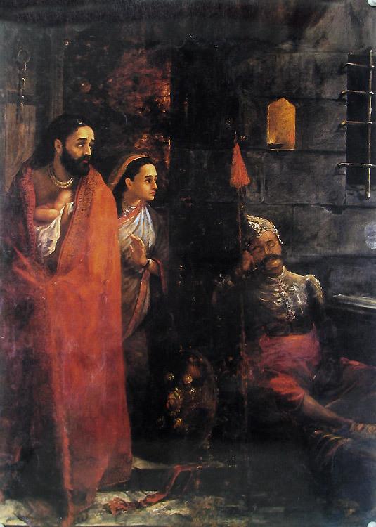 Vasudeva And Devaki Imprisoned