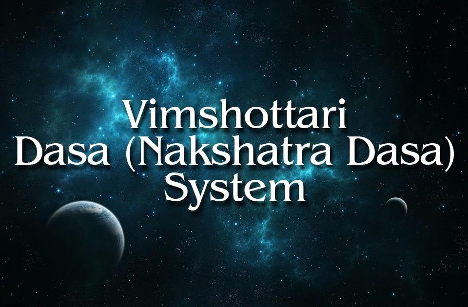 Vimshottari Dasha - Introduction to Dashas