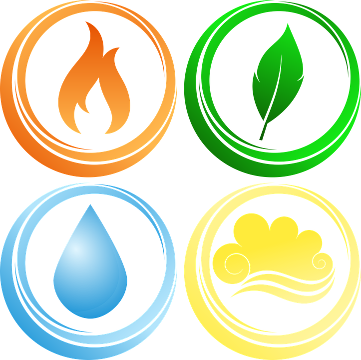 Fire, Earth, Air and Water