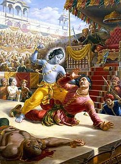 Krishna Kills Kamsa As Per The Prophecy/Premonition