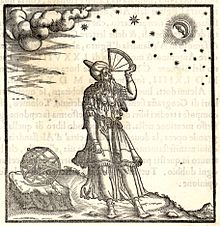 Depiction of Ptolemy Using A Quadrant