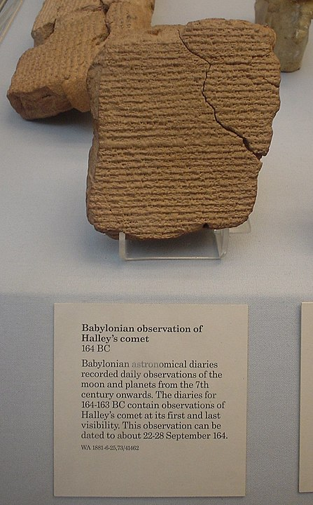 Babylonian Record Of Hailey's Comet