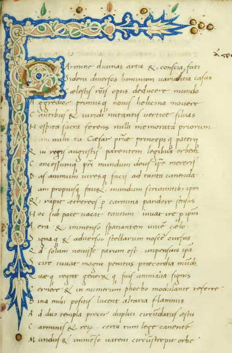 The First Page Of Astronomica