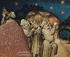 Babylonians observing the stars
