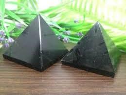 Black Agate Pyramid Crystal Grid