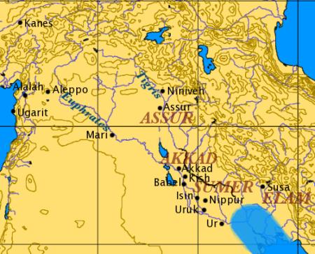 Map Of Ancient Mesopotamia