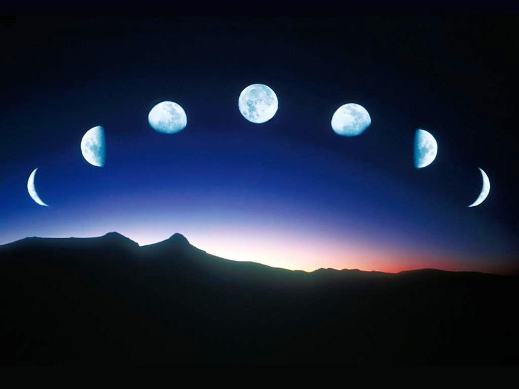Representation Of Phases OfThe Moon