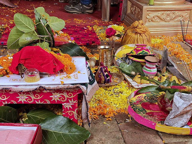 Preparation For A Hindu Wedding