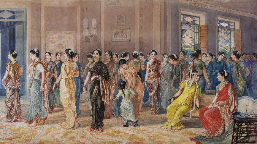 Painting Of A Hindu Wedding