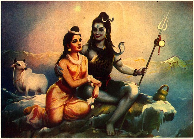 Shiva and Parvathy