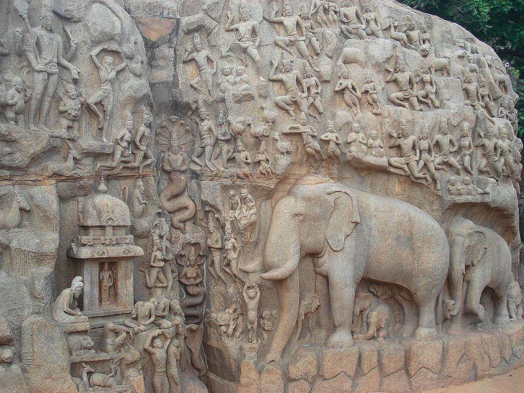 Arjuna's Penance Sculpture