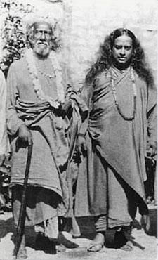 Sri Yukteshwar With Sri Yogananda