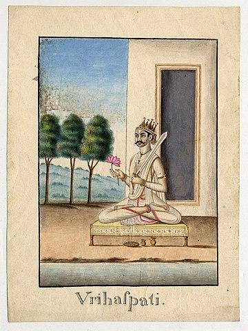 Watercolour Representation Of Brihaspati