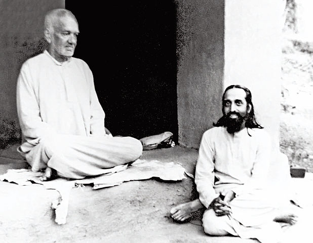 Swami Tapovanam With Swami Chinmayananda