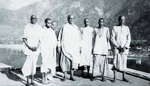 Swami Chinmayananda On The Day Of His Initiation Into Monkhood