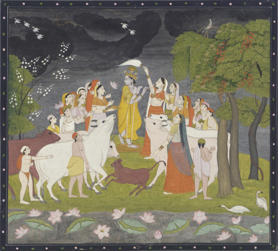 Krishna With Radha And The Gopis