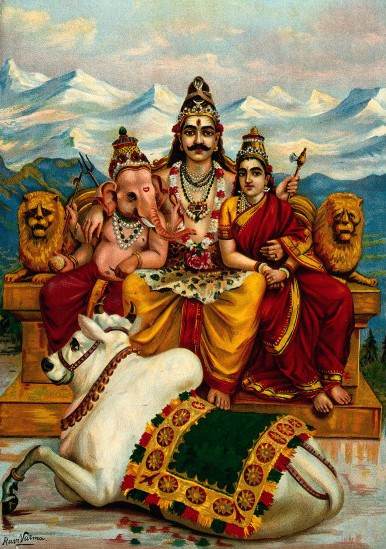 Lord Shiva, Parvati Devi and Lord Ganesh