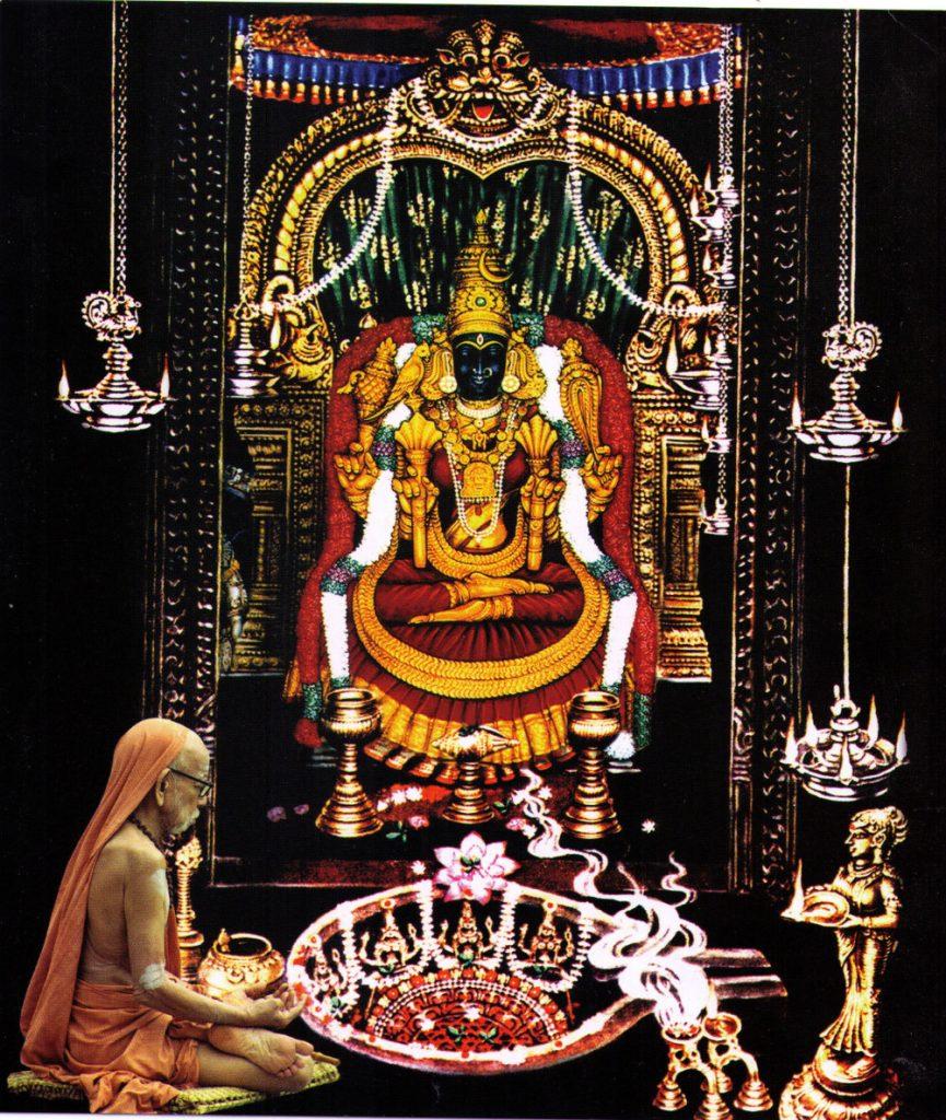Devi represented with Mahaperiava