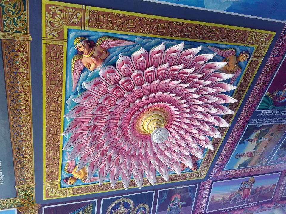 The Inverted Lotus Roof In The Nataraja Temple Chidambaram