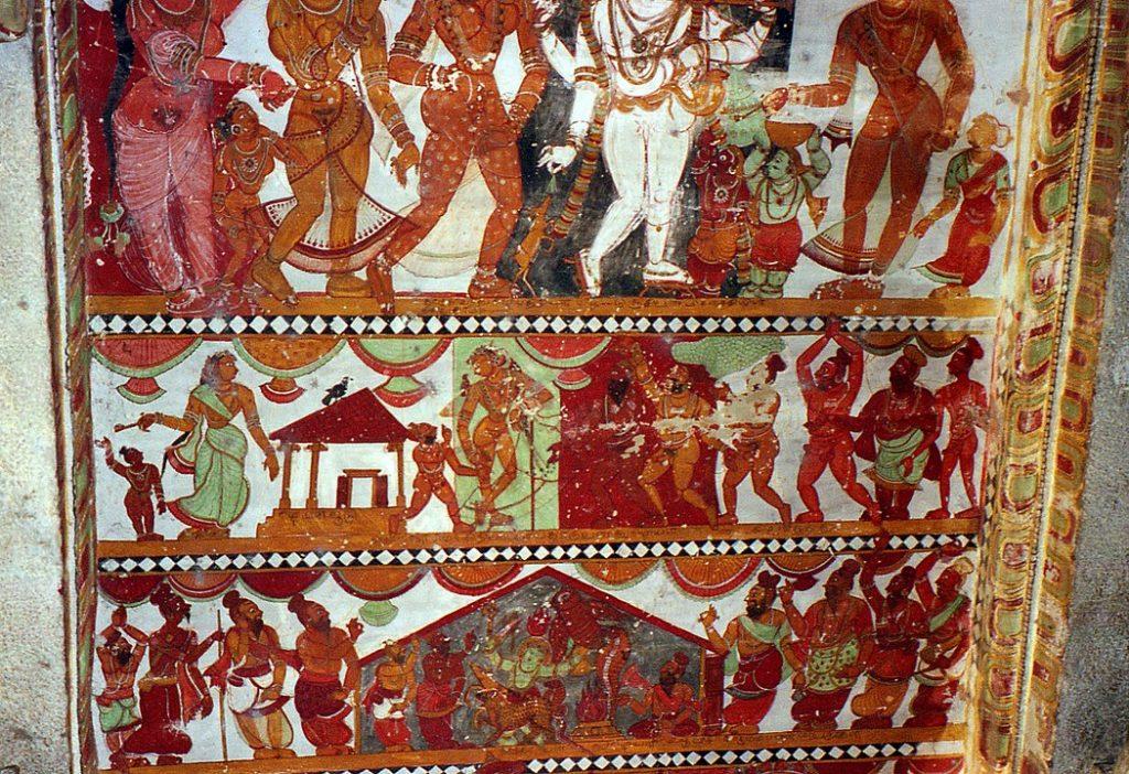 Painted Ceiling In Nataraja Temple Chidambaram