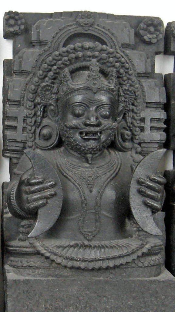 Rahu  Sculpture - Shani Mahatmya