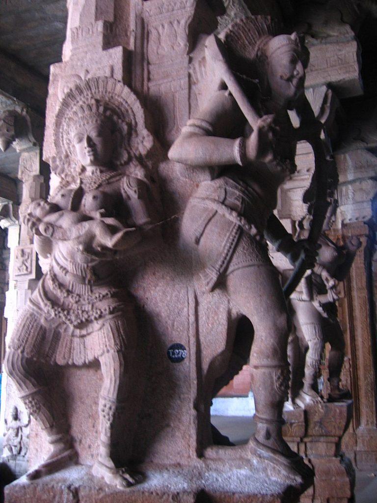 Sculpture Inside The Nellaiappar Temple