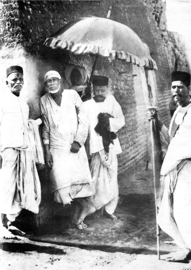 Sai Baba at Shirdi with Disciples