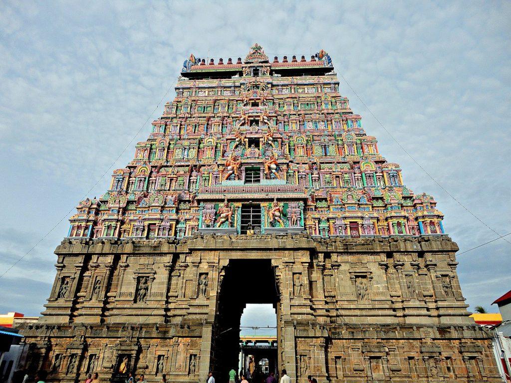 Gopuram Of the Nataraja Temple Chidambaram