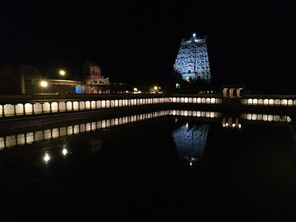 Night View Of The Nataraja Temple Chidambaram