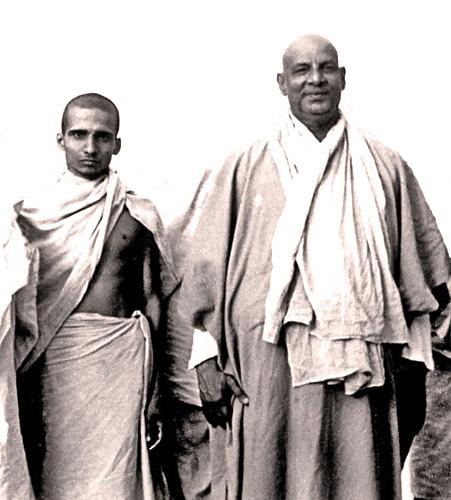 Swami Krishnananda And Swami Shivananda