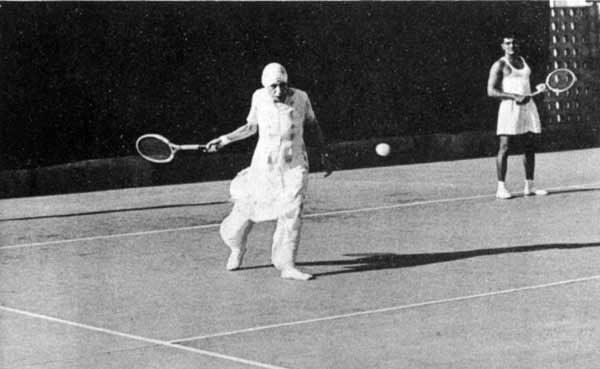 Mira Alfassa Playing Tennis